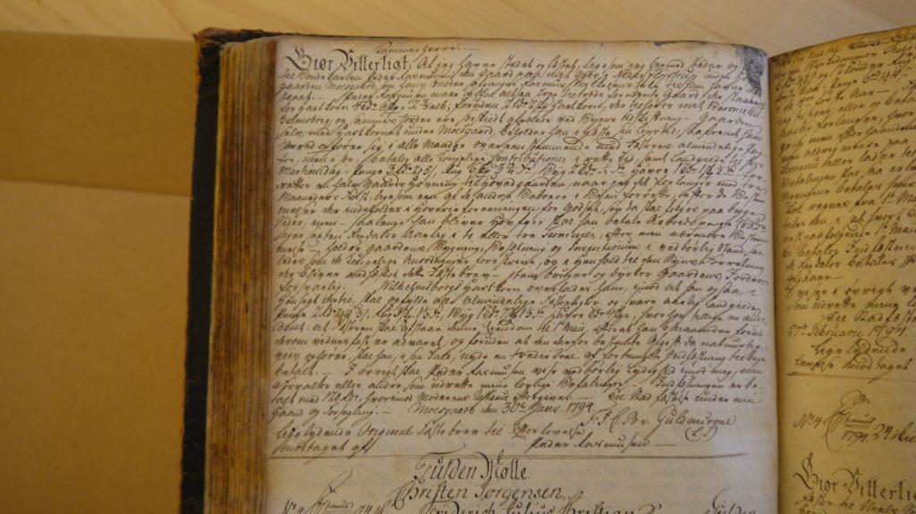 Moesgaard Skifteprotokol, Peder Rasmusens fæstebrev, 30. januar 1794